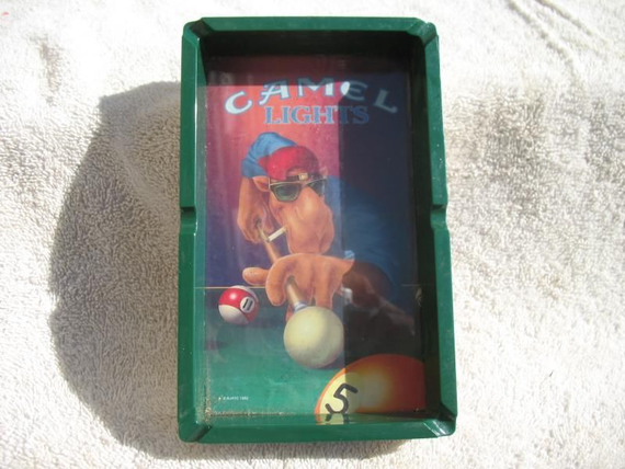Joe Camel Camel Lights Pool Table Ashtray X Mayo - 3 1 2 x 7 pool table