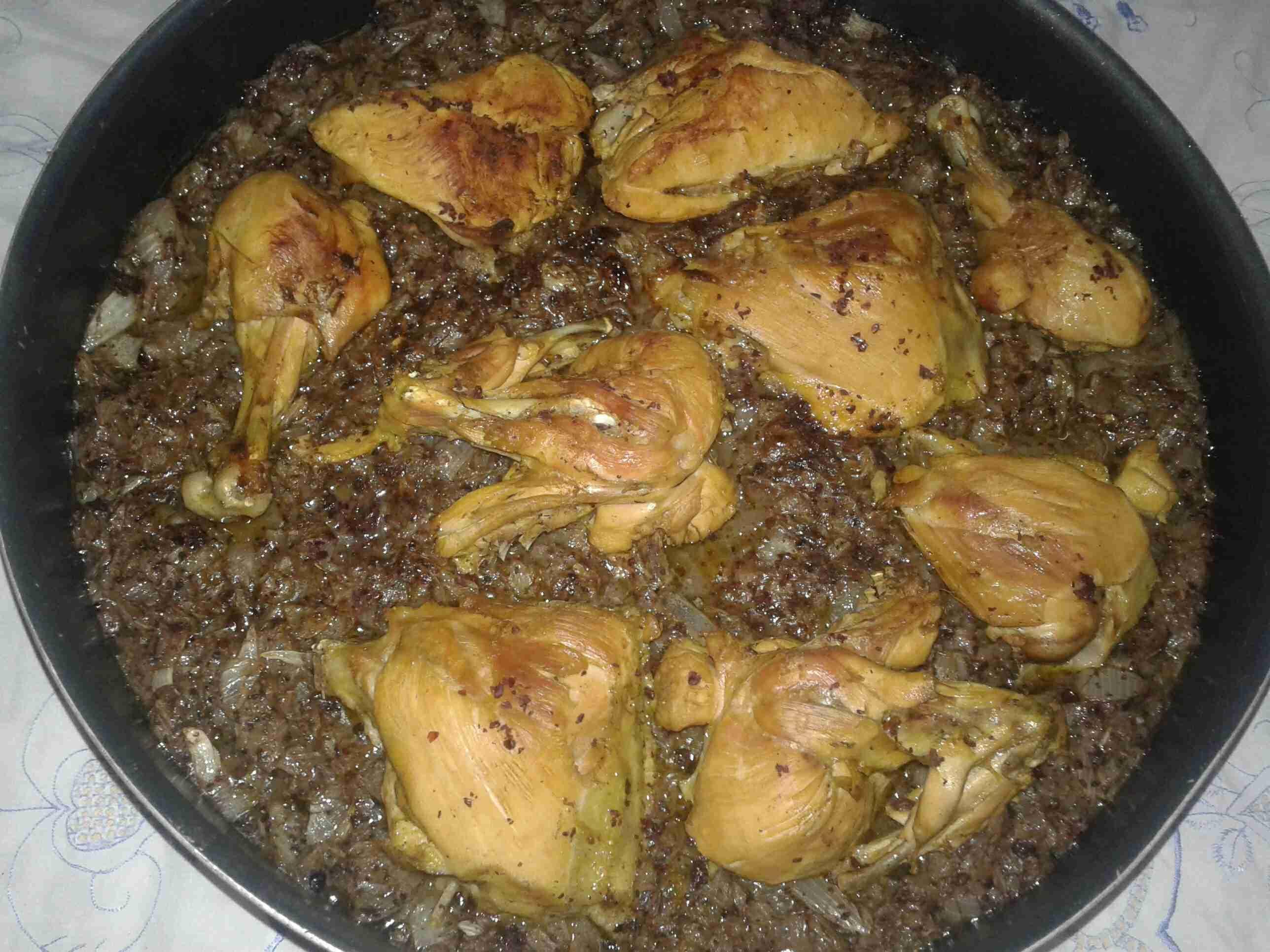 صينية دجاج بالبصل والسماق وزيت الزيتون ولا اطيب ملكة رمضان زاكي Recipe Food Recipes Dessert Recipes