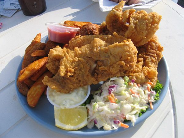 Southern Fish Fry Catfish Coleslaw Hush Puppies French Fries