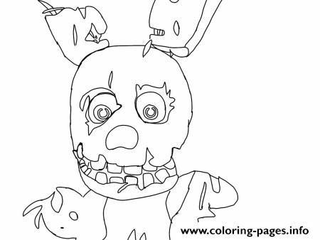 Print Five Nights At Freddys Fnaf 1 Coloring Pages Fnaf Coloring