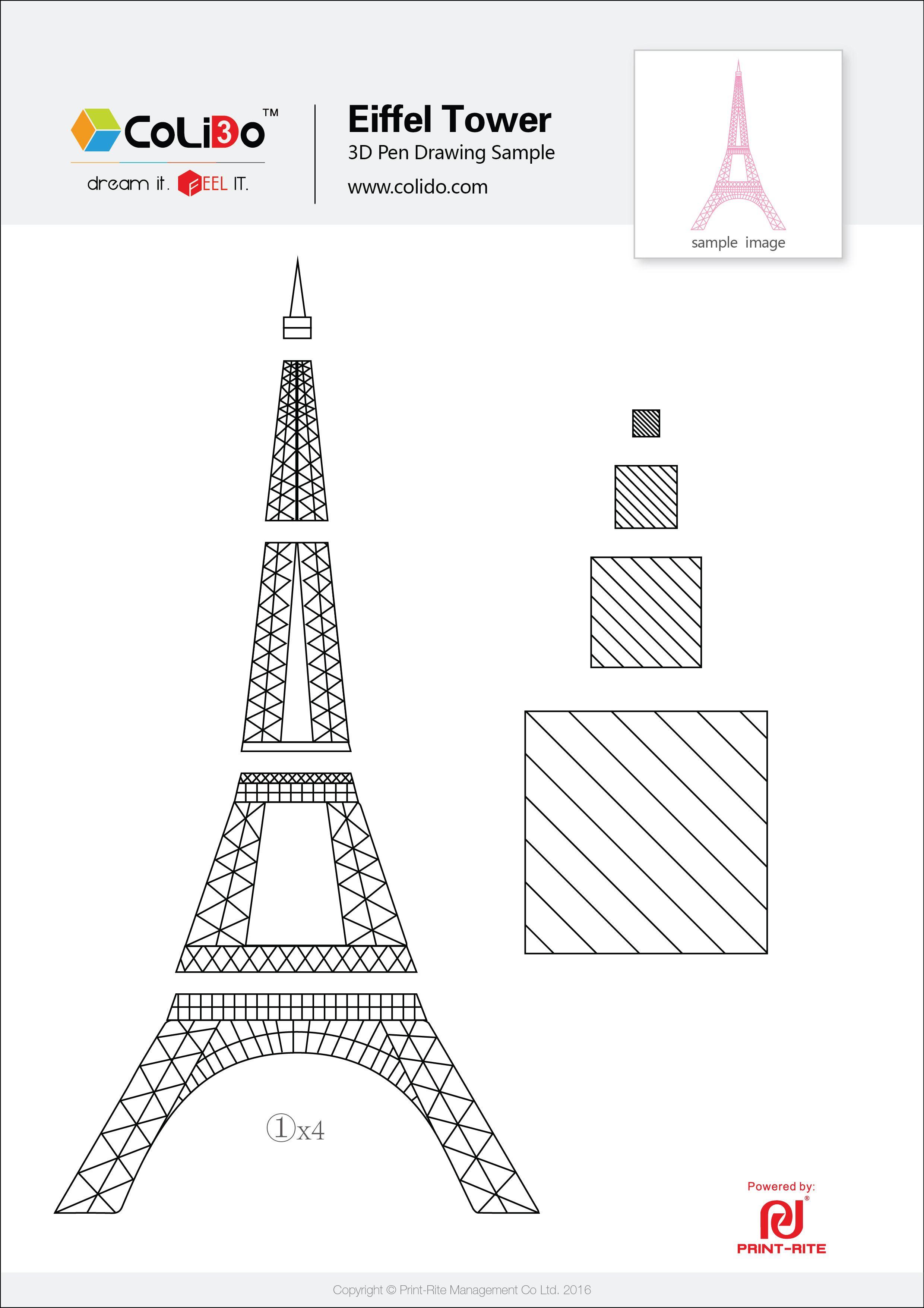 CoLiDo-3d-pen-stencil-eiffel-tower.jpg (2480×3508) | 3d pen ideas ...