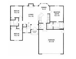 House Plans From 1100 To 1200 Square Feet Page 1 Small House Floor Plans House Plans House Plans Farmhouse
