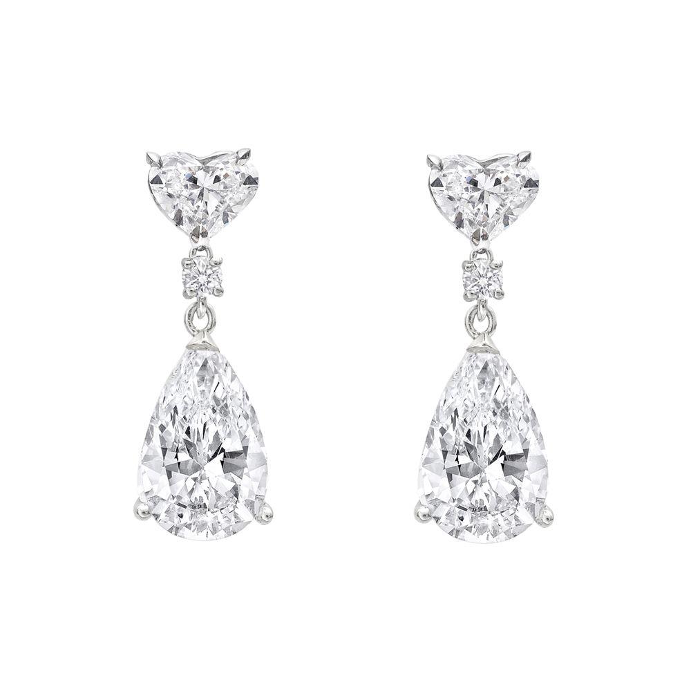 Betteridge Collection Pear Shaped Diamond Drop Earrings