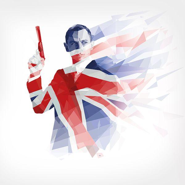 Ipad Retina Wallpaper By Kate Jones Via Behance James Bond James Bond Movies Illustration