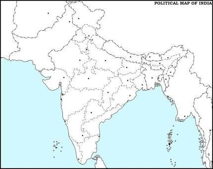 Image result for india political map blank   India map, Map ...