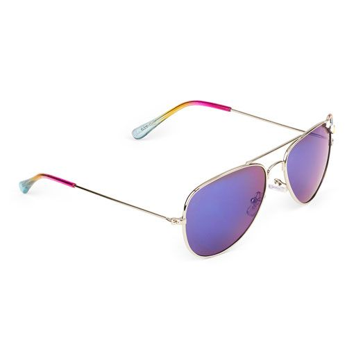202093a8b32 Girls Rainbow Aviator Sunglasses - Metallic - The Children s Place ...