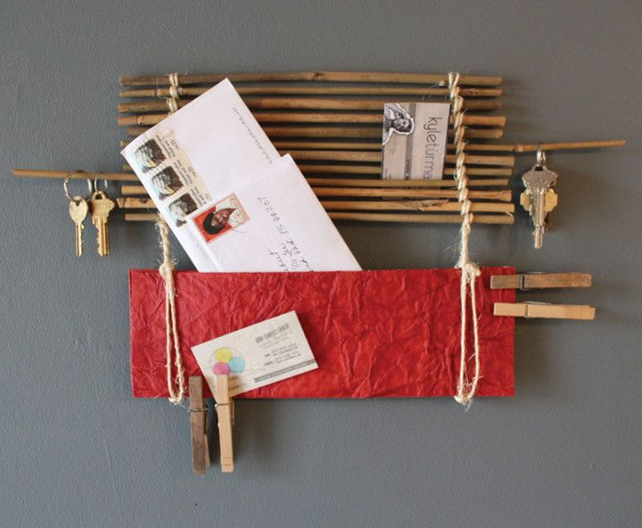 creative idea wall picture ideas. Attractive Handmade Wall Design for Decoration Ideas  Red Bamboo Organizer Stunning