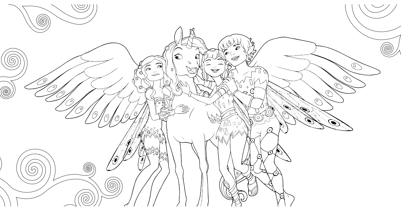 To Print Coloring Mia And Me 1 Click On The Printer Icon At The