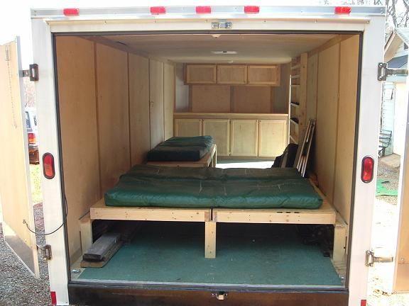image result for cargo trailer camper conversion treleur pinterest cargo trailer camper. Black Bedroom Furniture Sets. Home Design Ideas