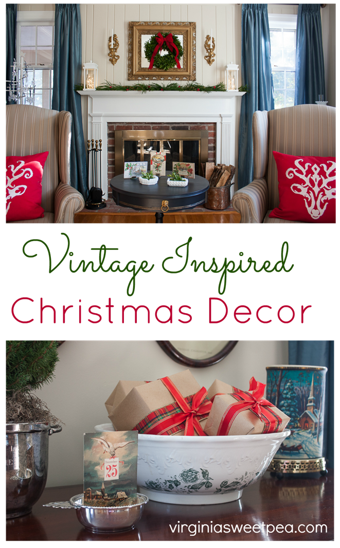 Vintage Inspired Christmas In The Living Room Sweet Pea Holiday Ideaschristmas Decorwhite