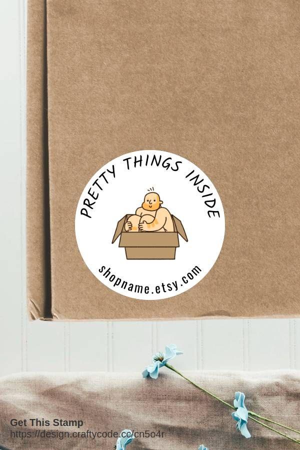 Cute Stuff Inside Packaging Stickers