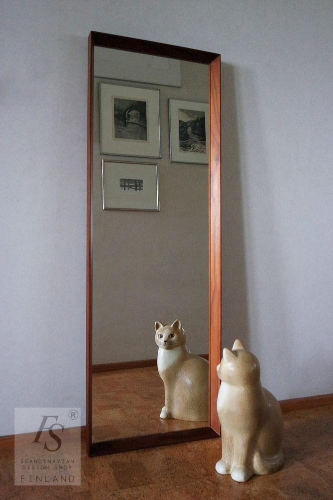 Mäkisen KUVASTIN peili, teak kehyksillä