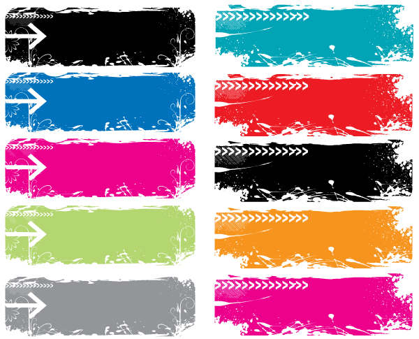 Colorful Grunge Vector Banners Free Download Vector Free Free Graphics Free Vector Art
