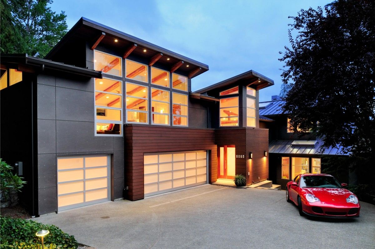 Seattle contemporary residence by george daniel wittman for Contemporary carport design architecture