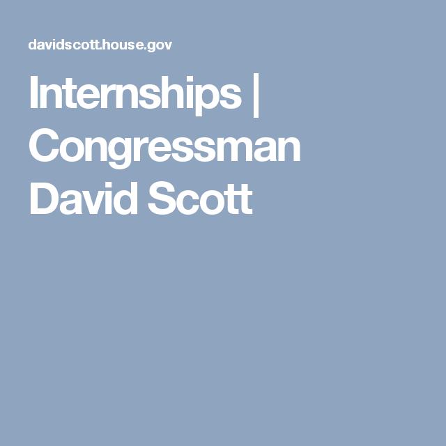 Internships | Congressman David Scott