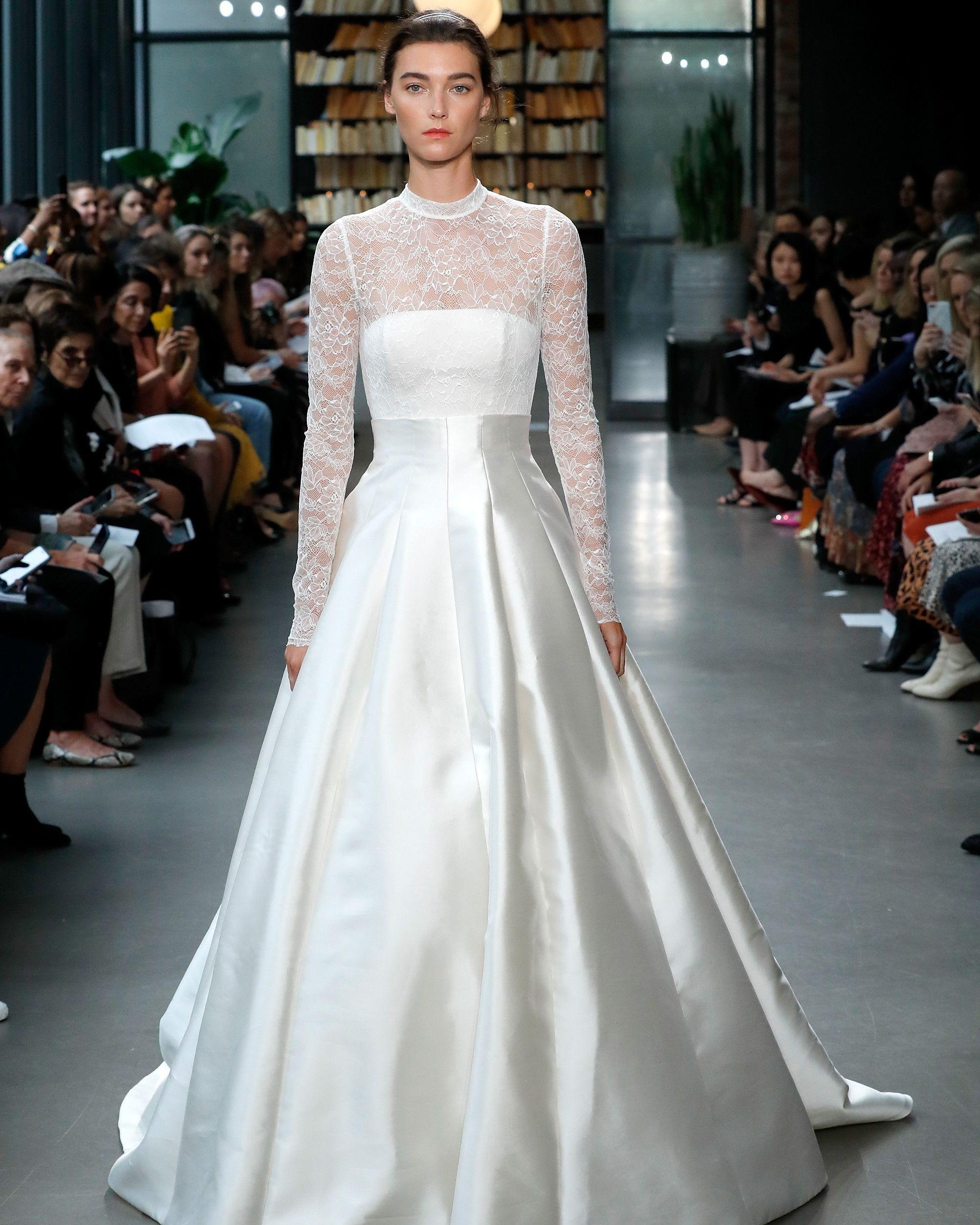 Famous wedding dresses  Amsale Fall  Wedding Dress Collection  Bridal Fashion Week
