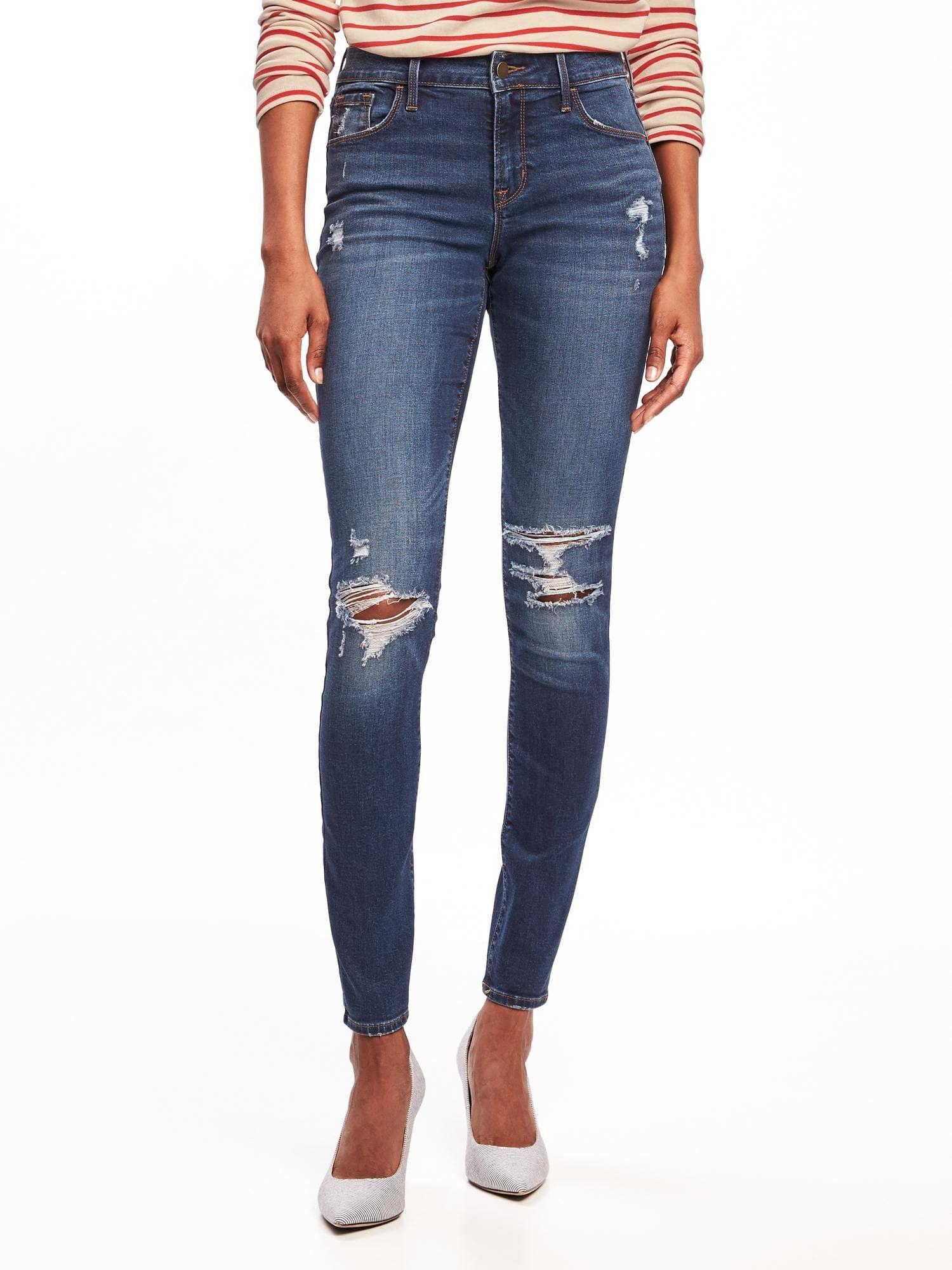8c3df4da7c1 Mid-Rise Distressed Rockstar Super Skinny Jeans for Women