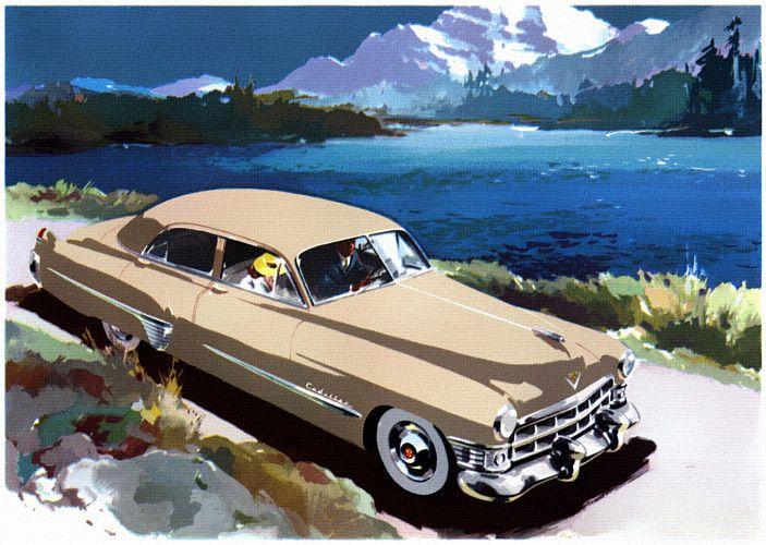 Plan59 :: Classic Car Art :: 1949 Cadillac