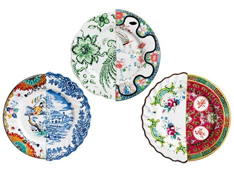 Art And Design Studio Ctrlzak Have Launched A Collection Of Tableware Where Half Of Each Piece Resembles Traditional Chine Seletti Hybrid Plates Willow Pattern
