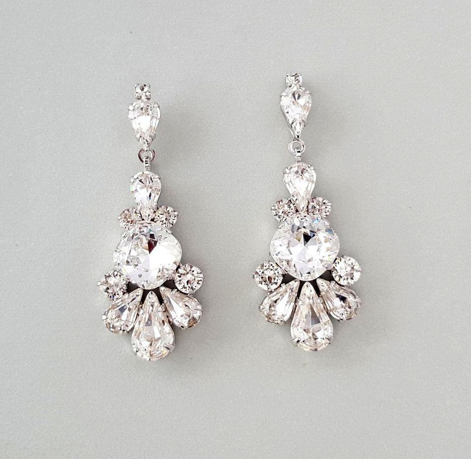 Sparkling swarovski crystal chandelier earrings pretty and sparkling swarovski crystal chandelier earrings pretty and perfection arubaitofo Image collections