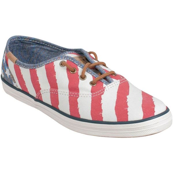 c5816368e38 Keds Women s Champion Patriotic Sneaker ( 50) ❤ liked on Polyvore featuring  shoes
