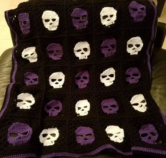 Pinned on Pinterest: Skully Crochet Blanket thumbnail