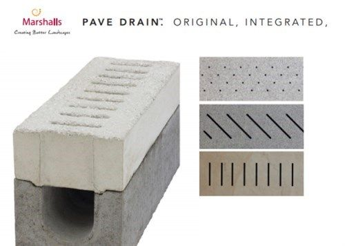 Marshalls drainage solutions pave drain abellandscapes for Exterior drainage solutions