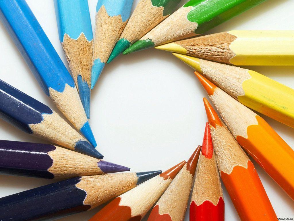 Art Supplies Colour Full Wallpaper