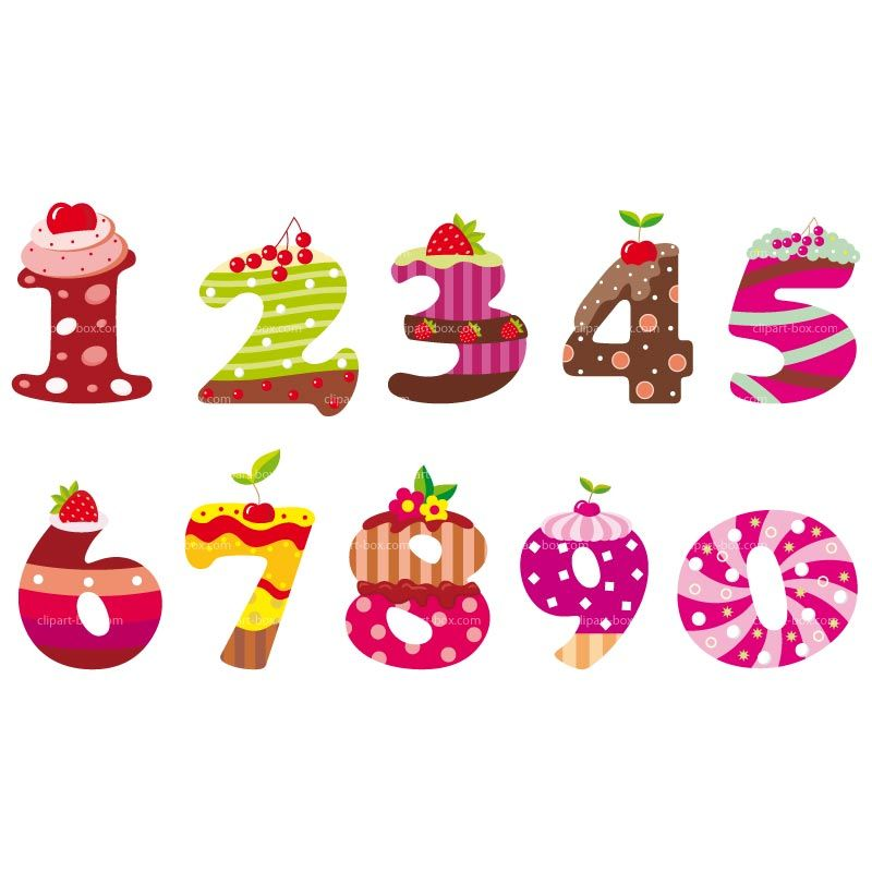 clipart cakes numbers royalty free vector design printables rh pinterest com free clipart number 80 free clip art numbers 1-100