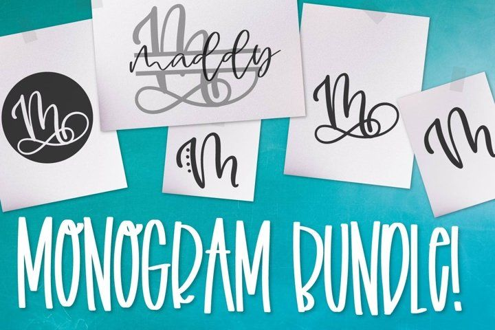 Download Monogram Bundle - FIVE Styles Including a Split Monogram ...