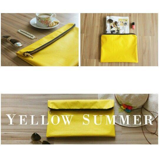 Invista no amarelo com a Clutch Yellow Summer. Compre aqui: www.libel4.com