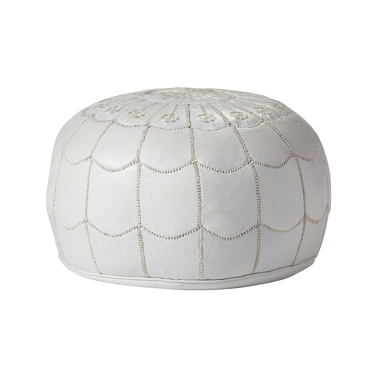 Moroccan Leather Pouf Design Sit Down Pinterest Leather A Moroccan Pouf Is The Perfect Extra Seating Or Footstool For A