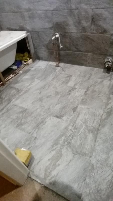 Indus Dark Grey Stone Effect Ceramic Wall Floor Tile Pack Of 6 L600mm W300mm