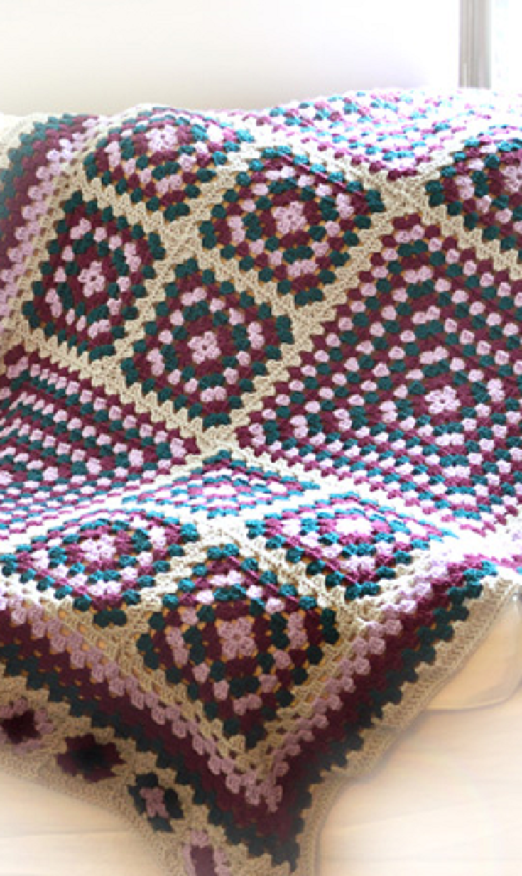 Crochet Pattern: Ultimate Granny Square Blanket | Manta, Colchas y ...