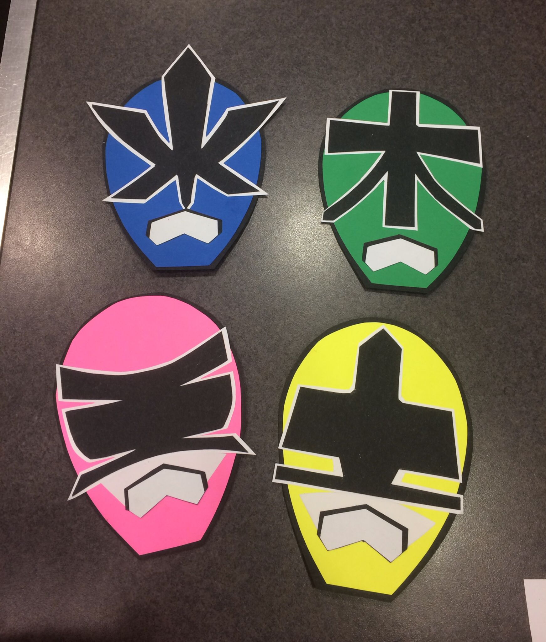Home Made Power Ranger Invitations
