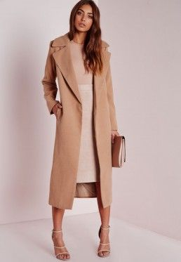 Petite Wool Longline Coat Camel | My Dream Wardrobe | Pinterest ...