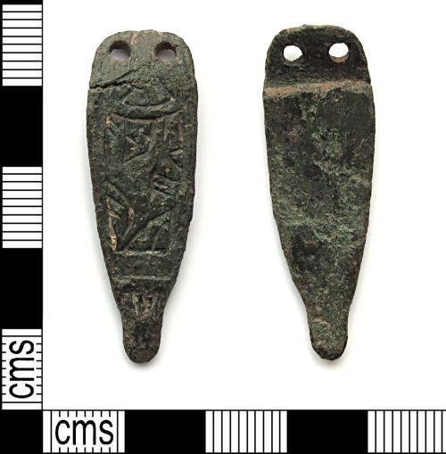 DUR-B8B2F6: Anglo Saxon Strap end