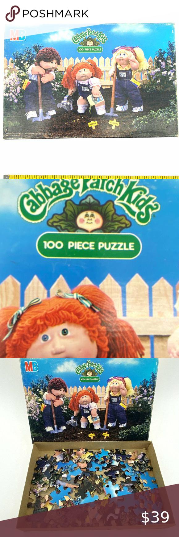 1984 Milton Bradley Cabbage Patch Kids Puzzle Vintage 1984 Cabbage Patch Kids Come Let S Garden100 Piece Puzzle Mb Puzzle Games Puzzles In 2020