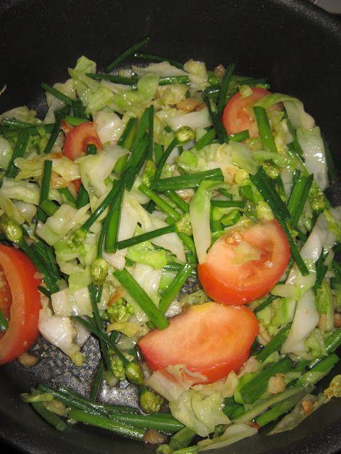 Dari Dapur Nasya Tumis Kobis Dan Bunga Kucai Food