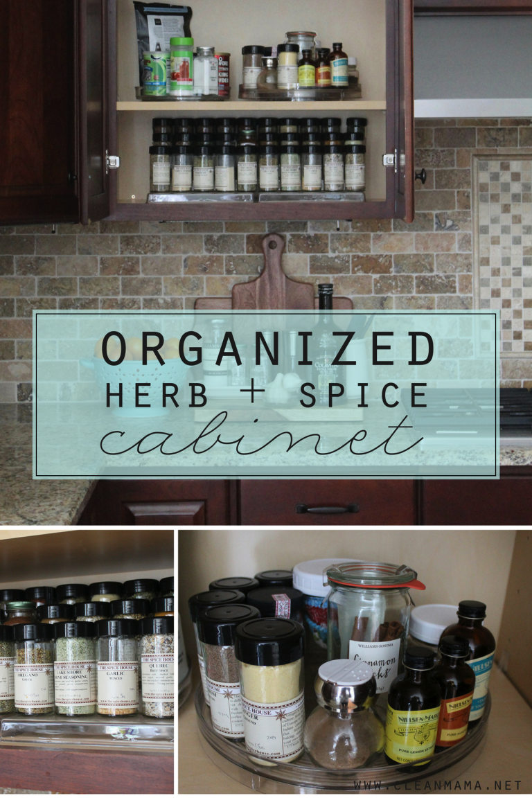 Organized Herb + Spice Cabinet | Cupboard, Organizing and Organisations