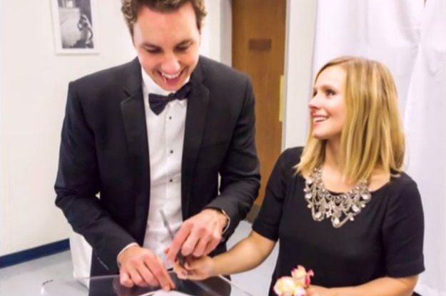 Kristen Bell Shared Photos From Her Wedding To Dax Shepard That Will Make Your Heart Explode Kristen Bell Wedding Kristen Bell And Dax Kristen Bell