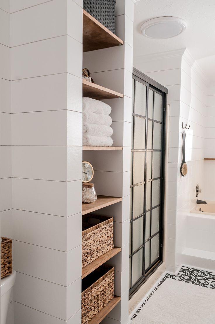 Farmhouse Bathroom Makeover on a Budget! - Joyful Derivatives