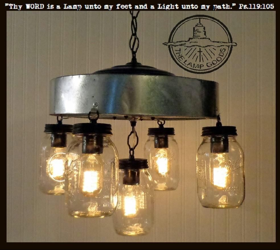 Extra Large Mason Jar CHANDELIER 10-Light Fixture | Mason jar ...