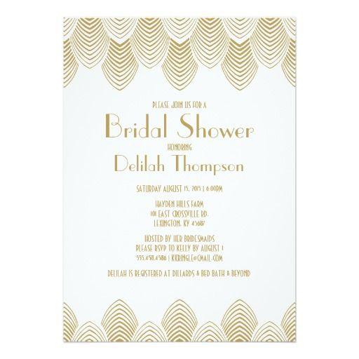 Vintage 20s art deco bridal shower invitation wedding invitations vintage 20s art deco bridal shower invitation filmwisefo Gallery