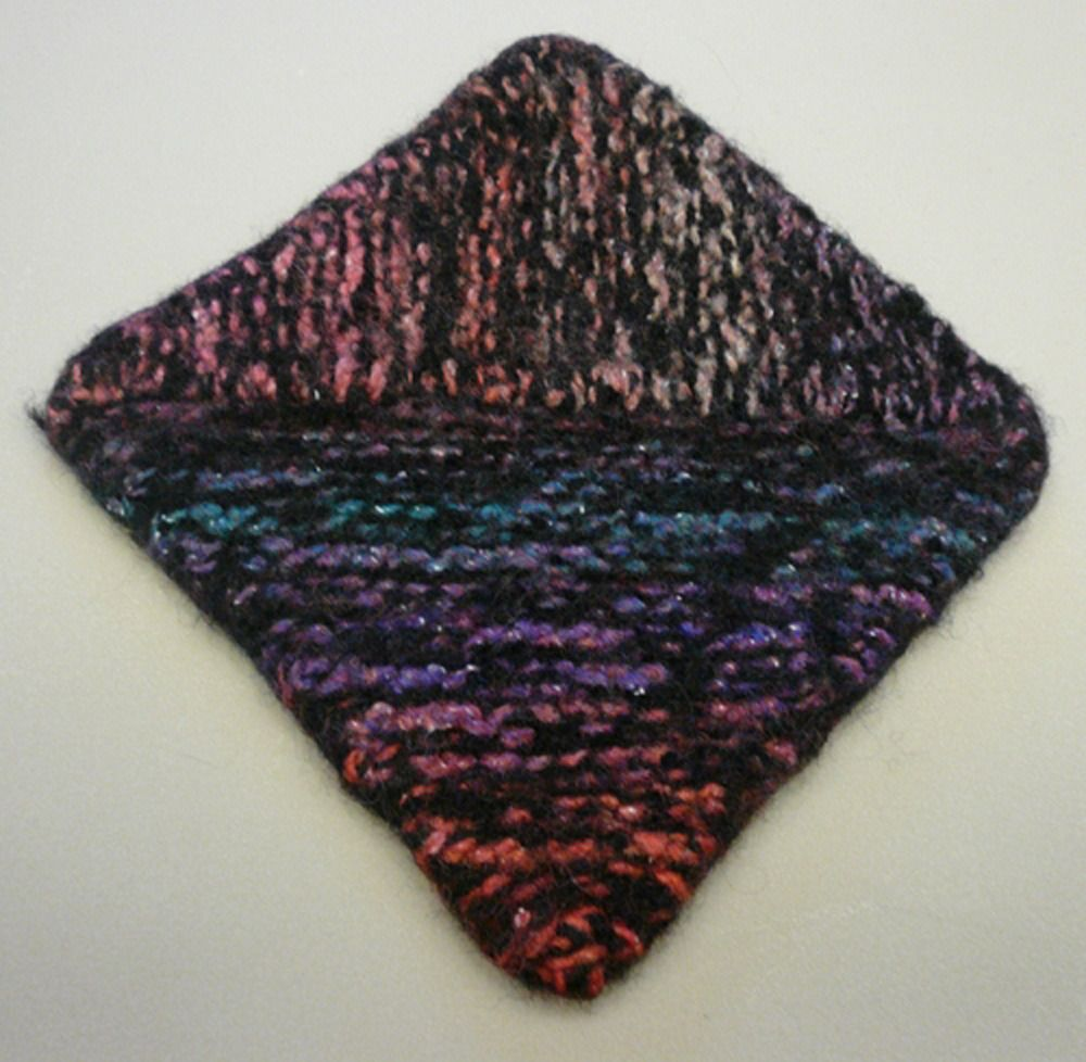 Multidirectional Diagonal Dishcloth in Plymouth Boku and Galway ...