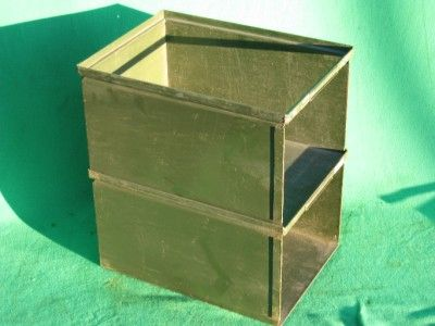 Stackable Steel Storage Bins | ... STACK STACKING HARDWARE PART OPEN FACE STEEL  STORAGE BIN DRAWER