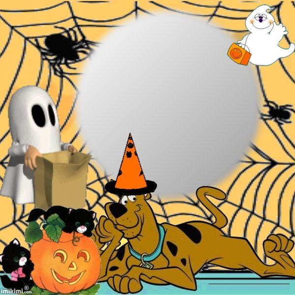 Animated Scooby Halloween Digital Picture Frame You Can Add Your