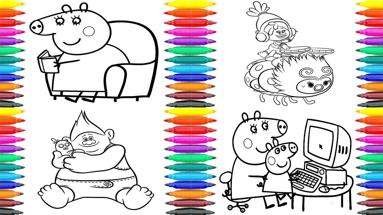 Best Video Of The Week Funny Coloring Book Peppa Pig Coloring Pages Trolls Coloring Pages Learn Funny Coloring Book Peppa Pig Coloring Pages Coloring Books