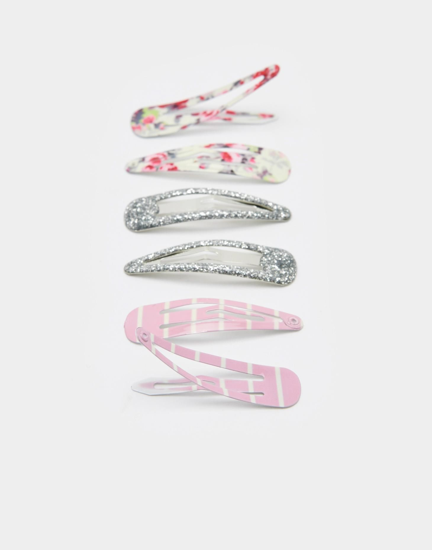 Clipperty Cream Ditsy Set of Three Hair Clips , Size One Size | Joules UK
