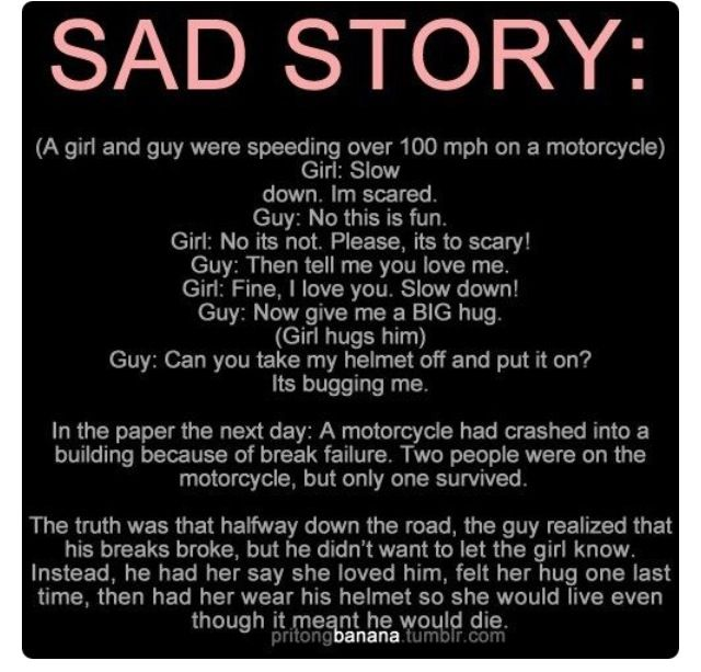 Quotes Sad Love Story: Dont Know Where To Pin This Being Myself A Rider!
